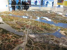 A model shows residents where Stockholm's future development will take place.