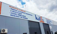 Rotulación fachada realizada en aluminio composite www.logovision.es