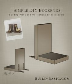 ... these easy-to-construct bookends. Using only simple, straight cuts, the parts assemble quickly with only a drill and a few screws. Small L-brackets hold ...