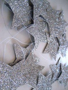 Silver star guirlande