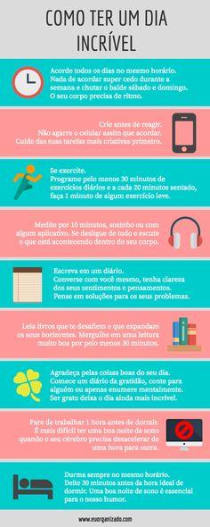 Hábitos para um dia incrível: infográfico