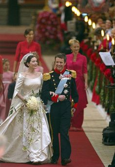 Crown Prince Frederik of Denmark marries Lady Mary Elizabeth Donaldson, May 14, 2004..