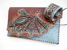 Dragon clutch Dragon bag Fantasy bag Dragon by spiculdegrau