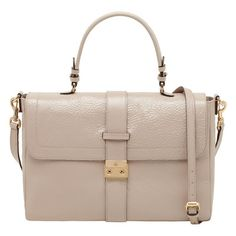 """Brand New with Tag Mulberry """"Harriet"""" Patent Satchel in beige"""