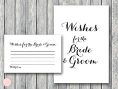 Wishes for the Bride and Groom Wishes for the by BrideandBows