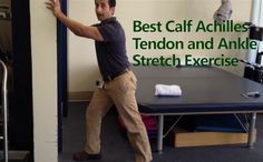Calf And Achilles Tendon Stretch - This is simple, safe and very effective stretch for improving your calf and achilles tendon flexibility. #health #fitnesshttp://www.tridoshawellness.com/calf-and-achilles-tendon-mobilization/