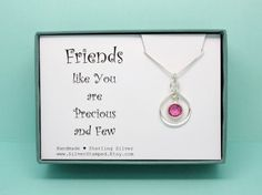 Birthday gift for best friend Sterling Silver by SilverStamped