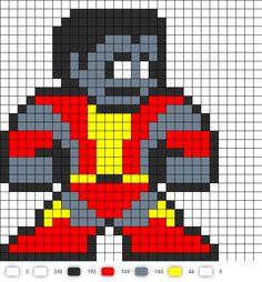 Colossus Marvel Perler Bead Pattern