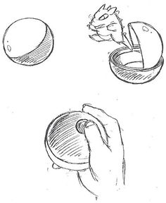Early Pokeball design from Capsule Monsters - Satoshi Tajiri's early design concept of Pokémon, first proposed to Nintendo in Source: Bulbapedia Baby Pokemon, Pokemon Oc, Gold Pokemon, Pokemon People, Pokemon Fan Art, Pokemon Stuff, Pokemon Red Blue, Satoshi Tajiri, Original Pokemon