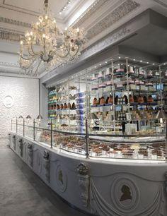 Ladurée's new chocolate-centric boutique, Les Marquis de Ladurée, in Paris.