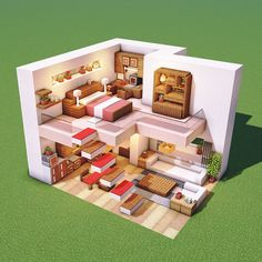 I want to live in a room like this! : Minecraftbuilds Minecraft Houses Survival, Easy Minecraft Houses, Minecraft House Tutorials, Minecraft Plans, Minecraft House Designs, Amazing Minecraft, Minecraft Tutorial, Minecraft Blueprints, Minecraft Crafts