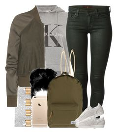 """""""It's been so cold I couldn't do anything """" by livelifefreelyy ❤ liked on Polyvore featuring Calvin Klein, 7 For All Mankind, Rick Owens, Brooks Brothers, Herschel Supply Co., adidas, Maison Margiela, women's clothing, women and female"""