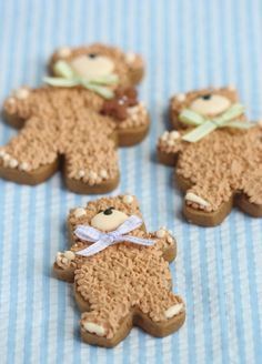 Such cute teddy bears baby shower favors cookies имбирное пе Teddy Bear Cookies, Baby Cookies, Baby Shower Cookies, Cute Cookies, Teddy Bears, Summer Cookies, Heart Cookies, Valentine Cookies, Easter Cookies