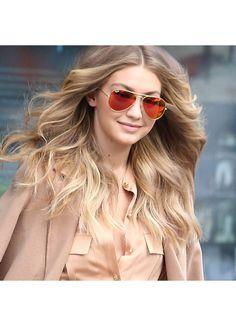 Gigi Hadid Style 56mm Color Mirror Aviator Sunglasses