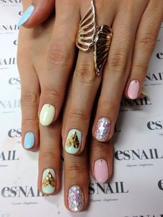 Camouflage and studs nails ♬の画像 | esネイル・ロサンゼルス店 ~海外ネイルサロン ブログ~