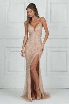 Pretty Spaghetti Straps V Neck Sleeveless Sequin Mermaid Long Prom Dresses, Gala Dresses, Homecoming Dresses, Evening Dresses, Formal Dresses, Nude Ball Dresses, Special Dresses, Graduation Dresses, Mini Dresses, Casual Dresses