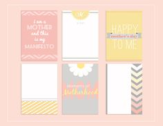 "Freebie: ""Mother's Day Journaling Cards"" by Amy Kingsford"