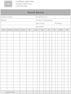 Employee Payroll Budget Worksheet Template - | Ideas for the House ...