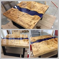 L'époxy sous touts ses formes... Cutting Boards, Butcher Block Cutting Board, Resin Furniture, Wood Resin, Countertops, Projects To Try, House Ideas, Resins, Tray
