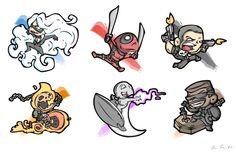 Black Cat, Deadpool, Punisher, Ghost Rider, Silver Surfer, Blade: