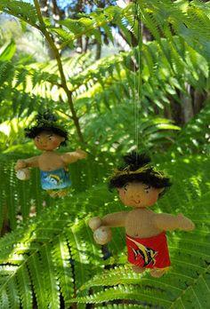 Magical Hawaiian Menehune Dolls: Aloha Doll Ornaments
