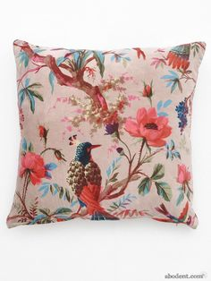 http://www.abodent.com/sumi-e-canopy-cushion.html Sumi-e Canopy Cushion, Bright Bird Design £29.99