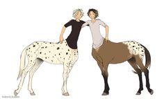 Fabian and Pistachio centaur Magical Creatures, Fantasy Creatures, Anime Centaur, Character Inspiration, Character Art, Amazing Drawings, Mythological Creatures, Horse Art, Digimon
