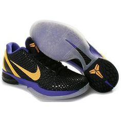 2829de7b0edc Nike Kobe 6 Black Del Sol Purple 436311 071 Half off Discount Shoes 2013