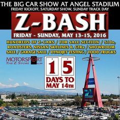 15 days until ZBash 2016. What are your last minute mods? Are you ready?  Tag a friend. What's in your garage?  #zbash2016 #zbash #motorsportauto #thezstore #datsun #carshow #zluts #datsungarage #240z #260z #280z #280zx #300zx #350z #370z #510 #jdm #nismo