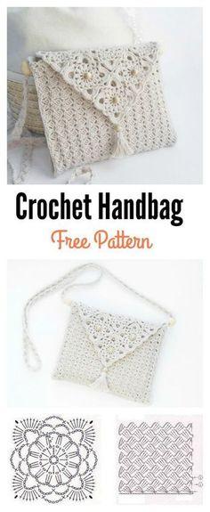 Pretty Crochet Handbag with Graphics and Free Pattern Sie Grafikdesign . Pretty Crochet Handbag with Graphics and Free Pattern Sie Grafikdesign Pretty Crochet Handbag with Graphics and . Crochet Bolero, Beau Crochet, Crochet Pouch, Knit Crochet, Crochet Bags, Crotchet, Diy Crochet Purse, Crochet Clutch Bags, Doilies Crochet