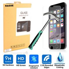 iPhone 6 Plus Tempered Glass Screen Protector 9H Hardness 0.26mm Ultra Thin 2.5D Round Edge