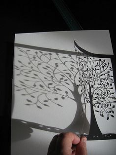 Tree papercutting shadow | Flickr - Photo Sharing!