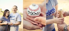 I like the last picture, baseball engagement pictures