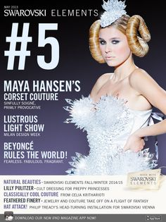 Maya Hansen. Live. Swarovski Elements Magazine cover