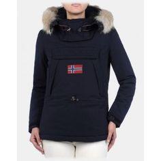Napapijri Skidoo 13 Womens Ski Jacket in Blu Marine. SciareGiacca 55a60f328997