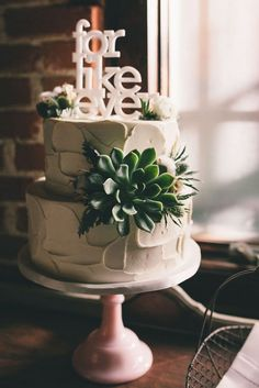 script style for like ever wedding cake topper