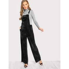 2faf99f2f52 ROMWE offers Solid Velvet Overalls   more to fit your fashionable needs.