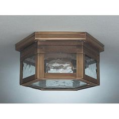 "Northeast Lantern Williams 5"" 1 Light Sockets Flush Mount Finish: Antique Brass, Shade Color: Caramel"