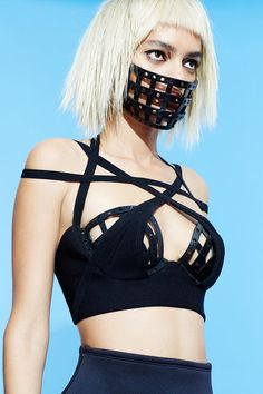 Make your mark in the #3dPrinted Odile Bustier and Facemask Shop #Chromat‬ #Formula15