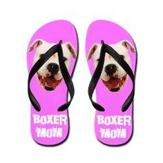 Boxer mom flip flops perfect mother's day gift for the boxer lover  #boxer #dogs #gifts #footwear