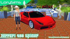 Ferrari 488 Spider at LorySims via Sims 4 Updates  Check more at http://sims4updates.net/cars/ferrari-488-spider-at-lorysims/