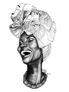 Drawings - Fine Art by Philece R : : : thatArtista African Drawings, African Art Paintings, Black Girl Art, Black Women Art, Black Girls, Cool Art Drawings, Art Drawings Sketches, Afrika Tattoos, Afrique Art