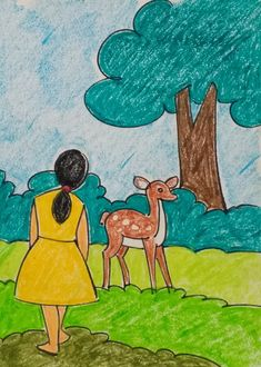 Drawing Images For Kids, Cartoon Drawing For Kids, Scenery Drawing For Kids, Bunny Drawing, Easy Drawings For Kids, Art Drawings Sketches Simple, Painting For Kids, Cartoon Drawings, Art For Kids