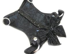 Small Dog   Choke Free   ed Ice   Faux Suede   Crystals   Bow ...