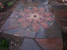 http://www.metamosaics.com mosaic stone pebble mosaic mandala pavement