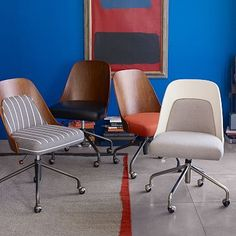 Bentwood Office Chair + Cushion #westelm. Oh  my goodness, how much do I love these chairs. My office desperately needs one. -Liz