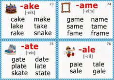 phonics flashcards long a vowel words Phonics Flashcards, Phonics Rules, Abc Phonics, Phonics Words, Phonics Reading, Teaching Phonics, Phonics Worksheets, Phonics Activities, Reading Comprehension