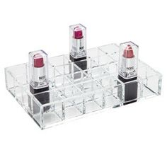 24-Lipstick Acrylic Organizer by The Container Store