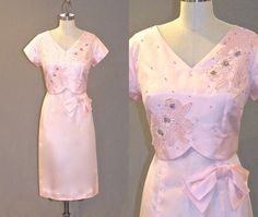 Hey, I found this really awesome Etsy listing at https://www.etsy.com/listing/191044110/vintage-60s-dress-1960s-pink-beaded