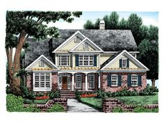 Eplans Country House Plan - Charming Home - 2765 Square Feet and 4 Bedrooms from Eplans - House Plan Code HWEPL08242